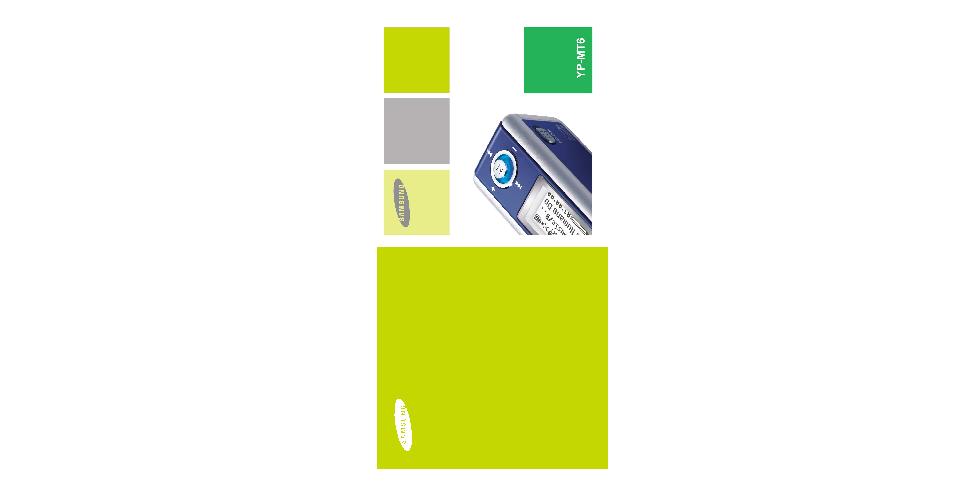 Samsung YP-MT6V User Manual (ver.1.0)