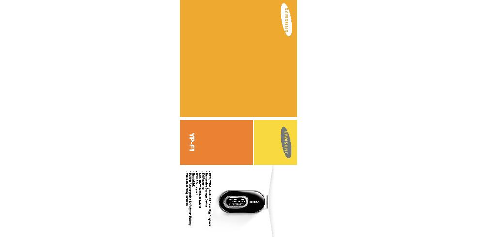 Samsung YP-F1ZW User Manual (ver.1.0)