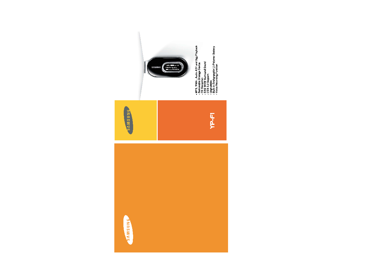 Samsung YP-F1X User Manual (ver.1.0)