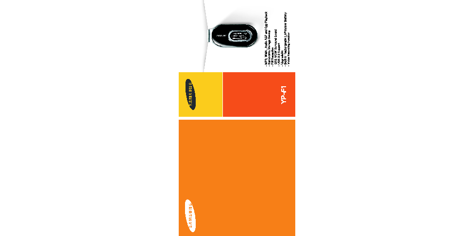Samsung YP-F1B User Manual (ver.1.0)